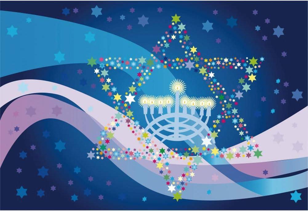 SZZWY 4x4ft Happy Hanukkah Backdrop Jewish Chanukah Background for ...