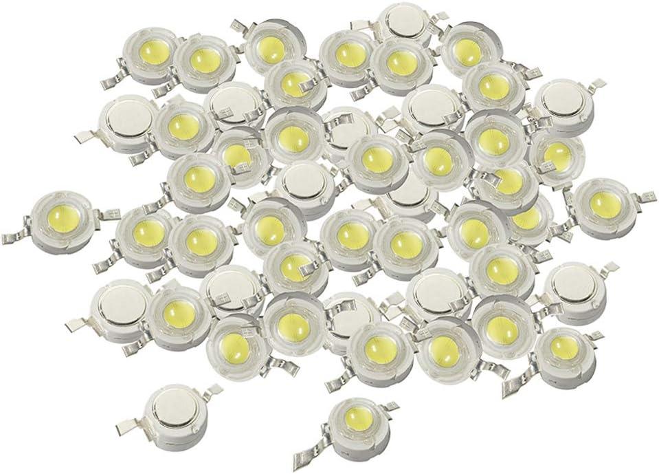 KESOTO 50 Pi/èces 1W Haute Puissance SMD LED COB Puce Lights Perles Perle Diode LED Blanc