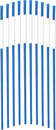 """1//4/""""x2FT Blue 50Pack Highway Markers Driveway Markers W//Reflective Strip"""