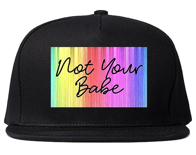 Amazon.com  Not Your Babe Rainbow Snapback Hat Black  Clothing 71e00dc2c0d