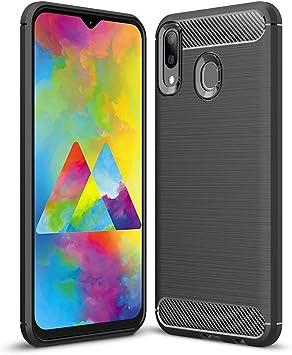 Hanbee Funda para Samsung Galaxy M20 Funda para Samsung M20 Funda Silicona TPU, Negro, Suave, Absorción de Choque Resistente,Antideslizante,Sentirse Bien, Funda para Galaxy M20 Funda: Amazon.es: Electrónica