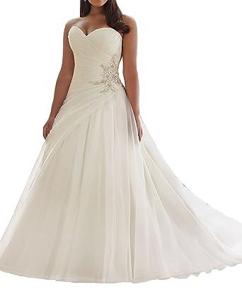 SlenyuBridal Plus Size Wedding Dresses 2018 Bridal Gown at Amazon ...