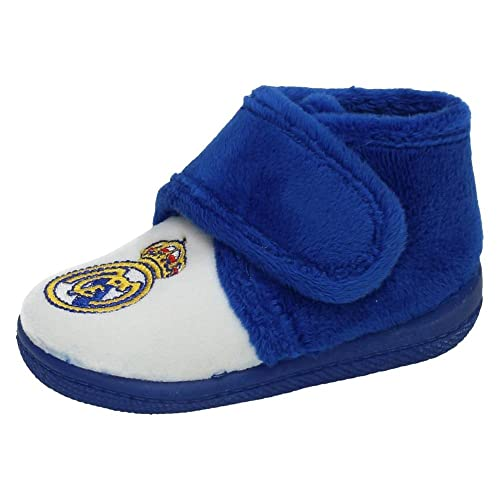 ANDINAS 9350-90 Oficial Real Madrid NIÑO Zapatillas CASA Blanco-Azul 28: Amazon.es: Zapatos y complementos