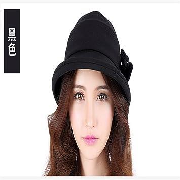 22c69af5d0 GAOQIANGFENG Sombrero del Pescador con Estilo de Las Mujeres, Visera  Femenina Ocasional del bigudí, Sombrero al Aire Libre Femenino de la Cuenca  del Verano: ...
