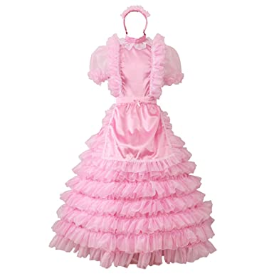 5226c5c3331 Amazon.com  Gocebaby Pansy Sissy Satin Organza Long Prom Puffy Dress ...