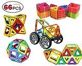66 Pieces Magnetic Tiles set Magnetic Blocks Building Toys Tiles for Kids by DreambuilderToy