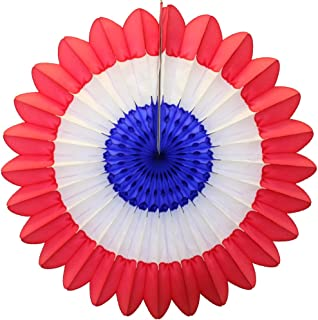 product image for Devra Party 3-Pack Red, White, and Blue 18 Inch Tissue Paper Fanburst