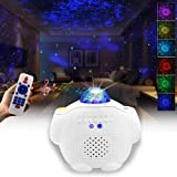 Starry Night Light Projector Bedroom, 3 in 1 Ocean Wave Projector Galaxy Projector Light w/Bluetooth Music Speaker for…
