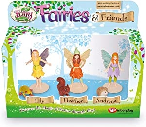 My Fairy Garden FG203 Fairies and Friends Figurines, Multicolor