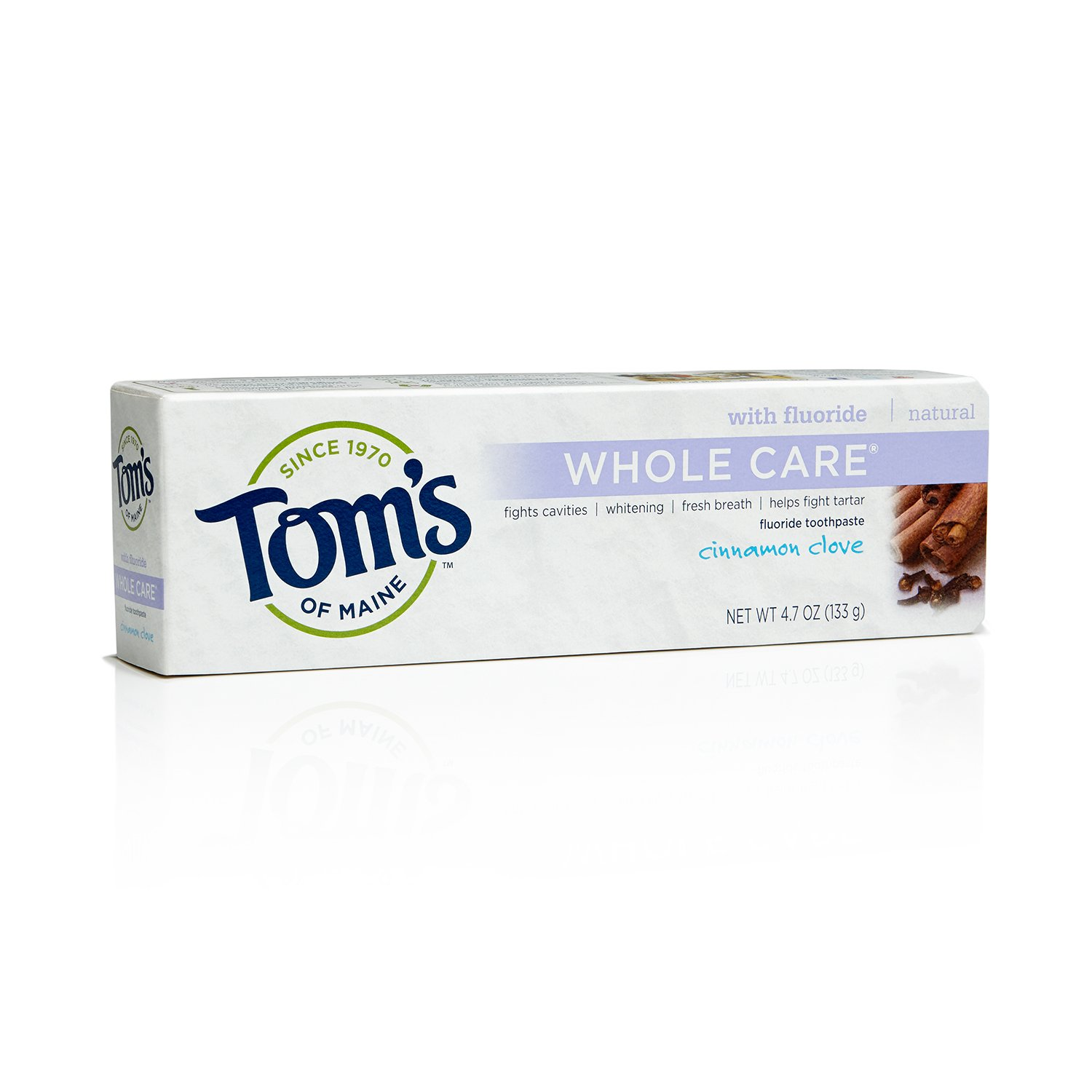 Tom's of Maine 683073 Whole Care Natural Toothpaste, Cinnamon Clove, 4.7 Ounce, 24 Count