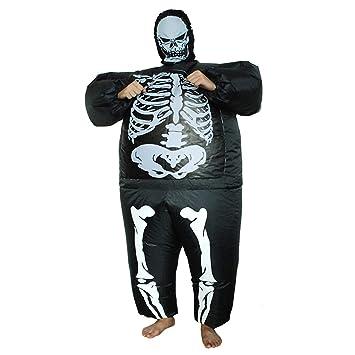 LOVEPET Traje De Esqueleto De Halloween Inflable Fiesta De ...