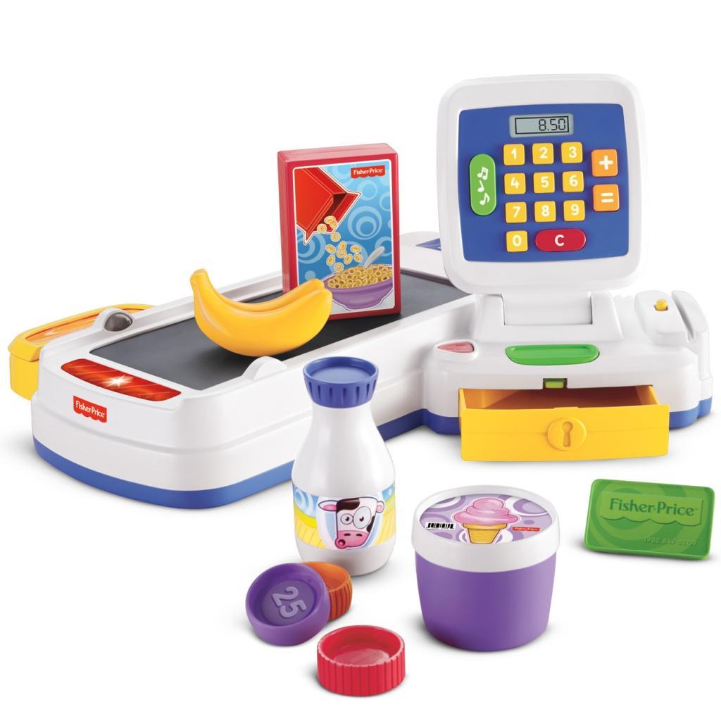 Amazon.com: Fisher-Price Servin' Surprises Cash Register: Toys & Games