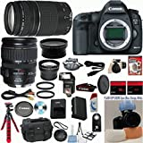 Canon EOS 5D Mark III 22.3 MP Full Frame CMOS Digital SLR Camera w/ Canon 28-135mm IS USM Lens Celltime Exclusive Bundle w/ Canon 75-300mm III Zoom Lens + 15pc Accessory Kit - International Version