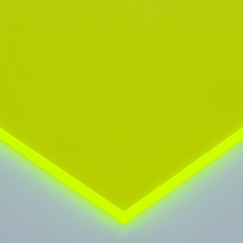 /Ø 70mm, gelb Fluoreszierend in-outdoorshop Acrylglas Zuschnitt verschiedene Gr/ö/ßen Plexiglas/® Platte Rund Scheibe Rund