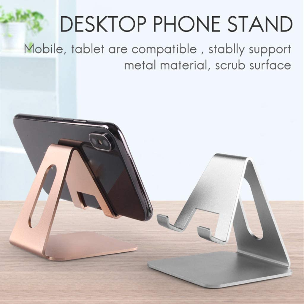WENWING Universal Aluminium Alloy Desktop Cell Phone Tablet Stand Holder Cradle Mount Mount Bracket for Mobile Phone Tablet