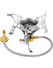 Lixada Camping Gas Stove, Big Power Windproof Camping Stove Portable Foldable Split Furnace Stove Cooking Burner with Carry Case Box 3000W/3200W