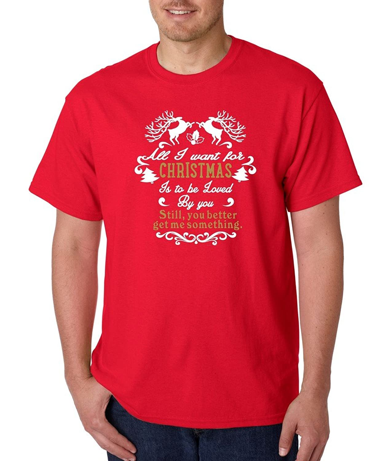 All I Want From Christmas is T-shirt Christmas Funny Xmas Gift Shirts