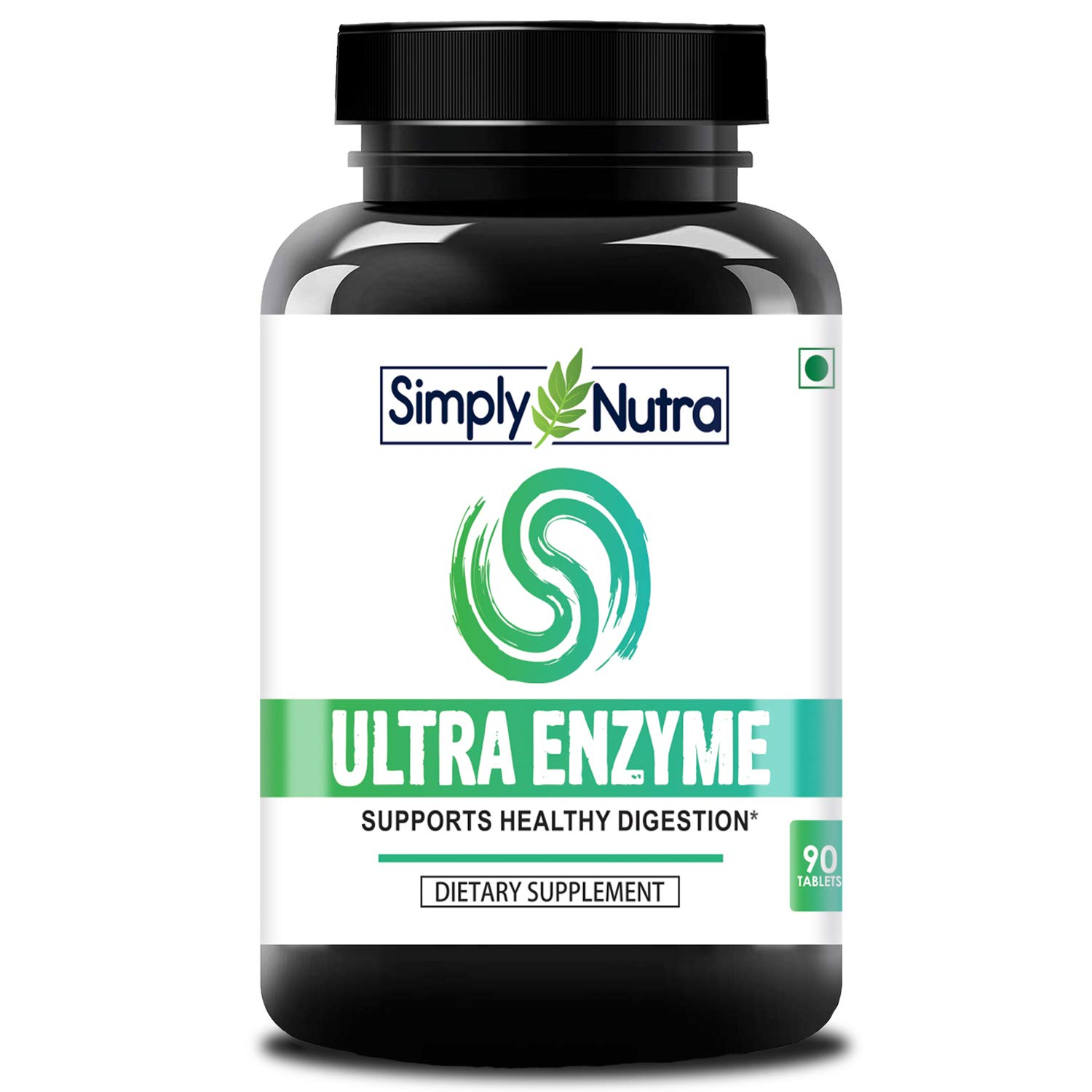 Simply Nutra Ultra Enzyme - Multi - Enzyme Complex - Healthy Digestion - 375Mg - 90 Tablets