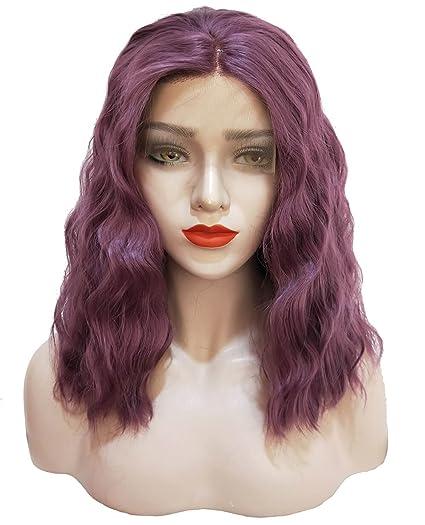 Ombre Peluca rizada para mujeres y niñas, peluca corta de 35,56 cm,
