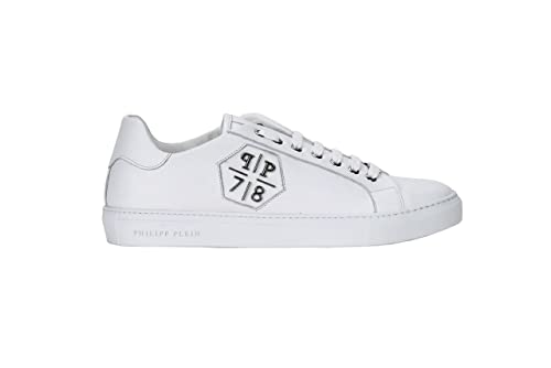 af695b998127ab Philipp Plein Men s Low Sneaker Load White Trainers  Amazon.co.uk ...