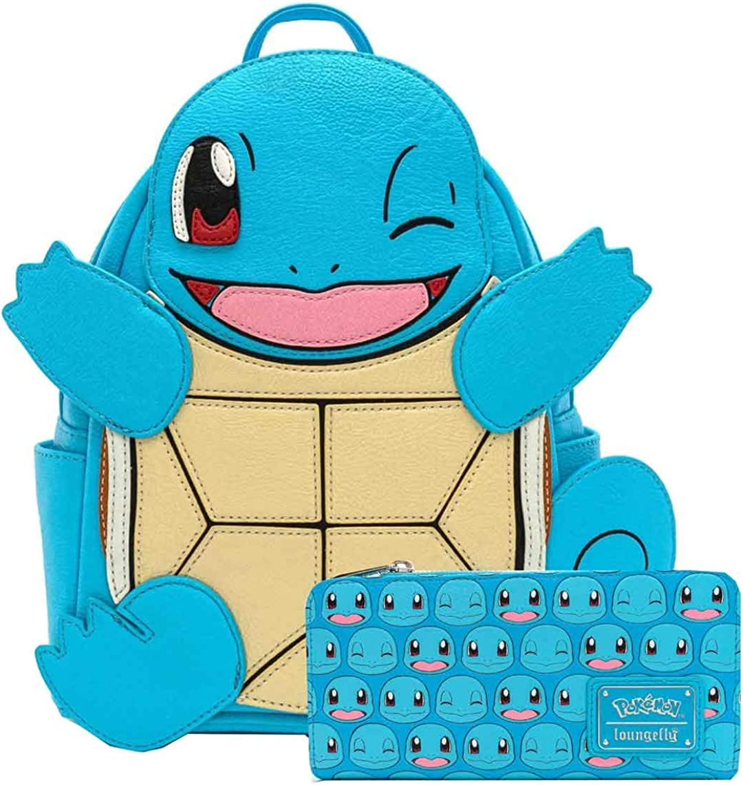 Loungefly Pokemon Squirtle Cosplay Mini Backpack and Wallet Set