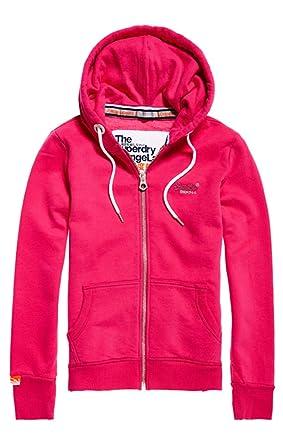 on sale d1291 038aa Superdry Zipper Damen ORANGE Label Primary Ziphood Hot Pink