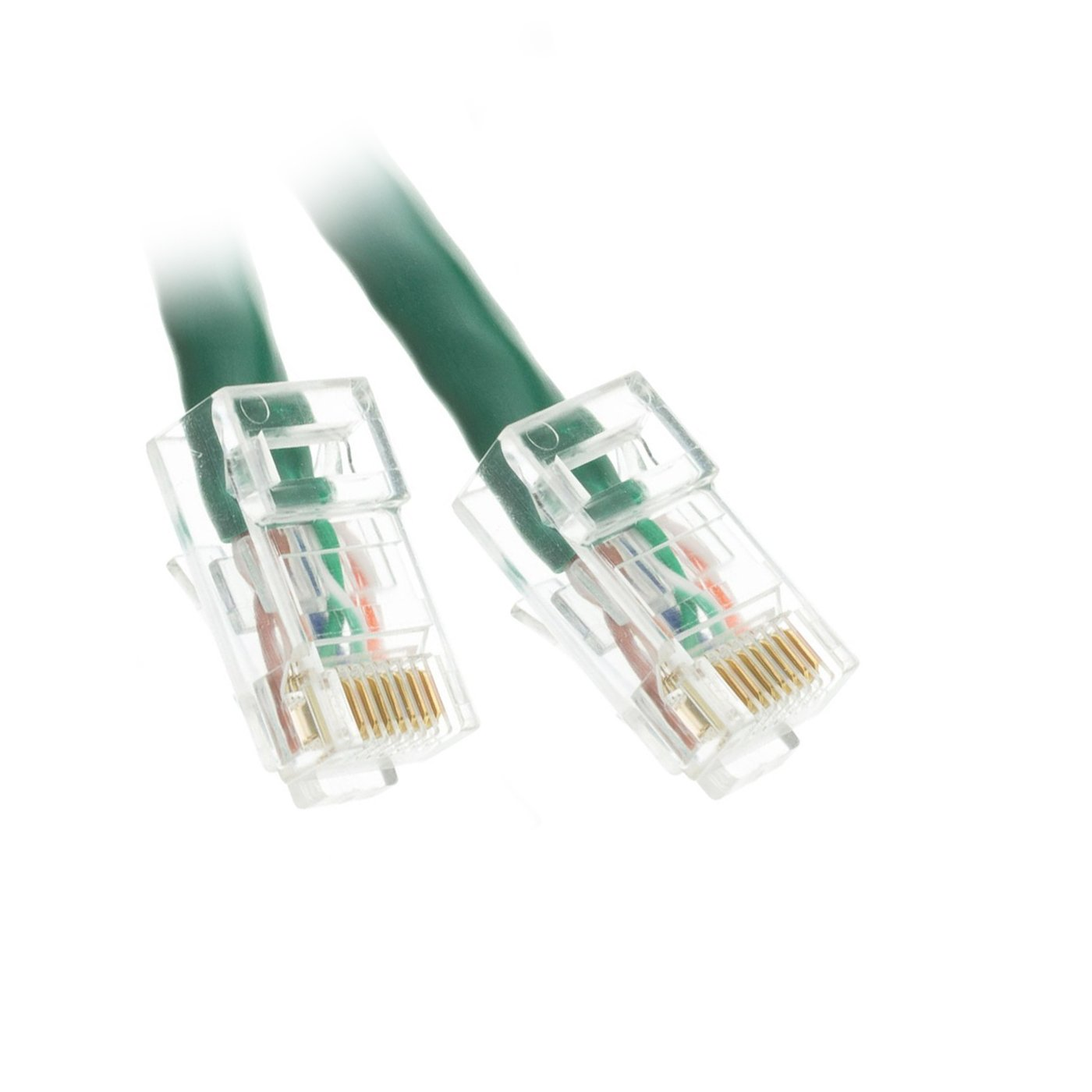 Acl 25 Feet Cat5e Rj45 Bootless Ethernet Patch Cable Black 5 Foot Part Number 10x6 Green 2 Pack Computers Accessories