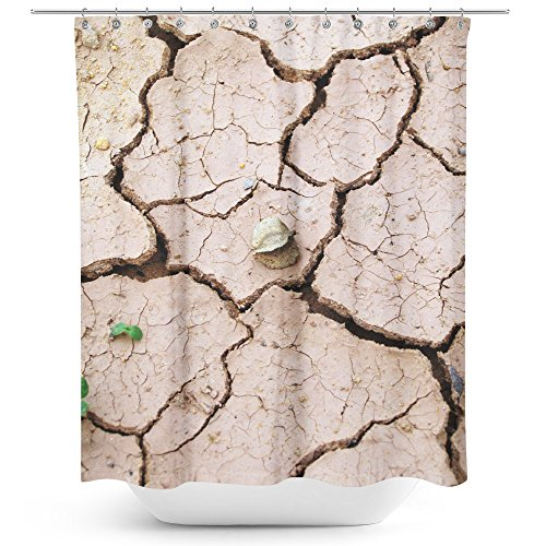 Westlake Art - Soil Clay - Fabric Printed Shower Curtain - Picture Photography Waterproof Mildew Resistant Hook Bathroom - Machine Washable 71x74 Inch (BBF56)