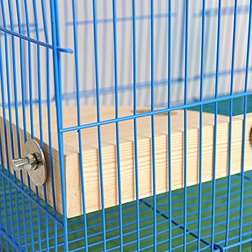 Mrli Pet Bird Perch Platform Stand Wood for Small Animals Parrot Parakeet Conure Cockatiel Budgie Canaries Gerbil Rat Mouse Chinchilla Hamster Cage Exercise Toys