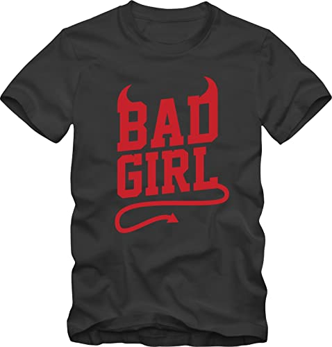 T-shirt Bad Girl Ironic Ironica Bisura
