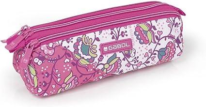 Estuche 3 Compartimentos Gabol Magic Rosa: Amazon.es: Oficina y papelería