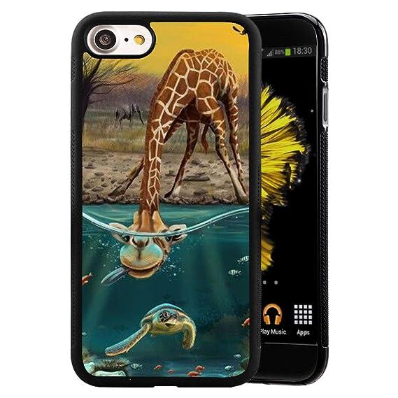 Amazon Com Iphone 7 8 Case Giraffe Sea Turtle Case For