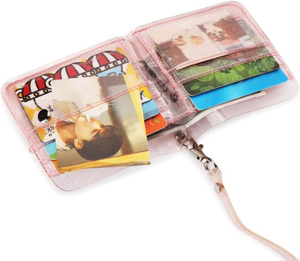 JW/_ Cute PVC Credit Card Holder Keyring Key Chain Sleeve Set Bus Card Case Bag