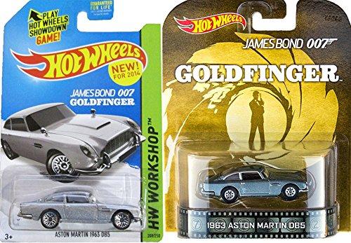 Hot Wheels Goldfinger 007 Aston Martin Set Retro Entertainment Mainline Series Silver DB5 #200