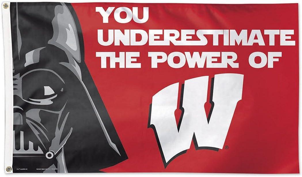 NCAA University of Wisconsin 15926215 Deluxe Flag 3 x 5