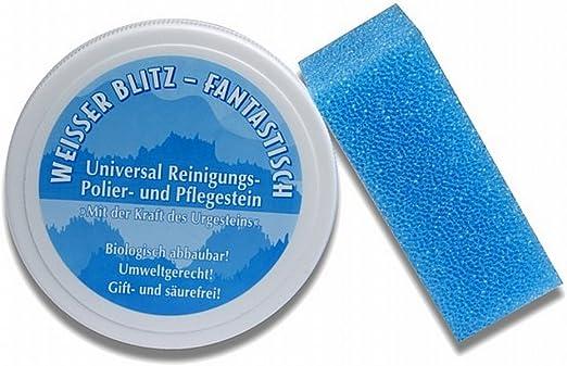 Directa belleza polvo de limpieza/pulido, limpiador, blanco Lightning, blanco piedra, incluye esponja, 500 g: Amazon.es: Hogar