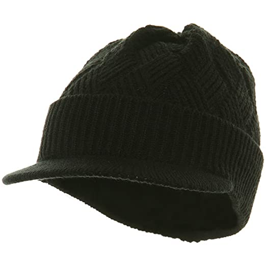 050565b6b13215 Rasta/NYE Acrylic Plain Beanie Visor-Black at Amazon Men's Clothing store:  Skull Caps
