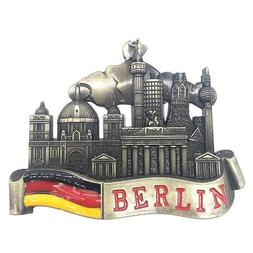Weekinglo Souvenir Berlín Alemania Imán de Nevera 3D de Metal ...