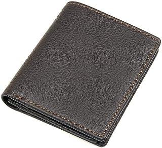 Circlefly Litchi motif portefeuille en cuir masculine recadrée matériel tête vache porte-monnaie