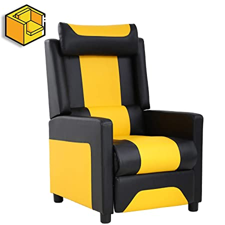 Recliner Chair Gaming Recliner Gaming Chairs for Adults Video Game Chairs Couch Gamer Chair Reclining Home Movie Theater Seating Sofa Single Living Room Furniture Seat Comfortable
