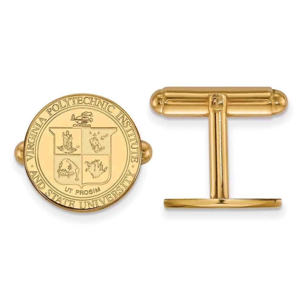 Virginia Tech Crest Cuff Links (Gold Plated)