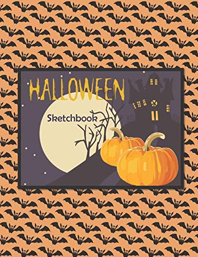 Halloween Sketchbook: a Large Notebook with 100 Blank