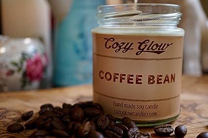 Acogedor resplandor granos de café 6,5 oz – vela de soja con aroma
