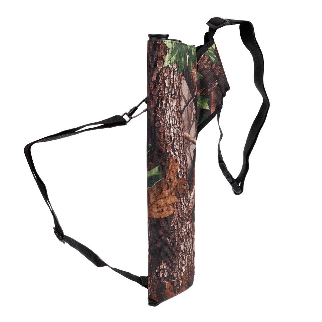 Baoblaze Carquois de Flèche Arc Dorsal Sac à Epaule de 3 Tubes Porte 30 Flèche Pour Tir à L'arc
