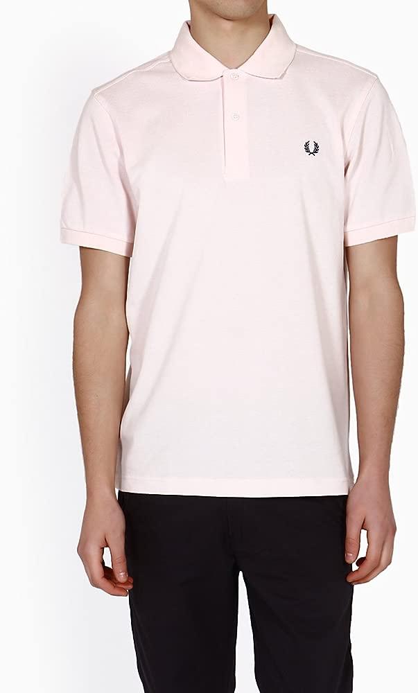 Para hombre Fred Perry rosa Polo T-camiseta de manga corta 100 ...