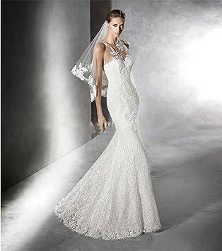 HAPPYMOOD Vestido de novia Vestido de novia Alta calidad Vestido elegante largo Capas Sirena Vestidos de
