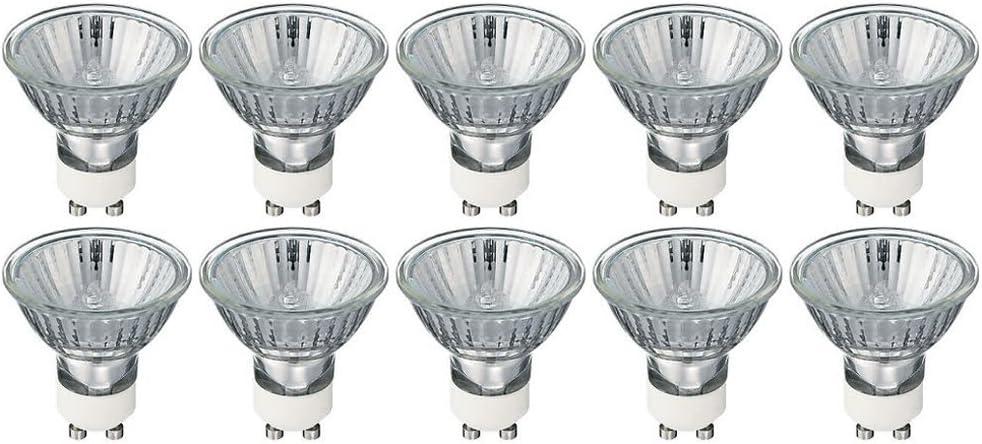 MR16/GU10 - Flood - GU10 Halogen Light Bulb (Twist & Lock) Base - 120V - MR16 Light Bulb MR16 (35 Watt, 10 Pack 35 Watt)