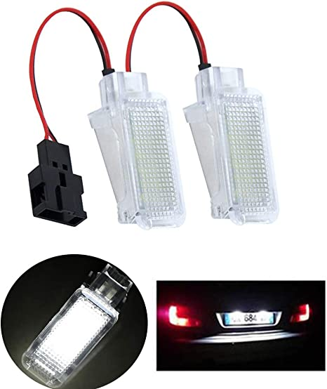 2 ampoules à  LED Lumière  Coffre à Bagages Blanc  pour  Audi A4  B5 B6 B7 B8
