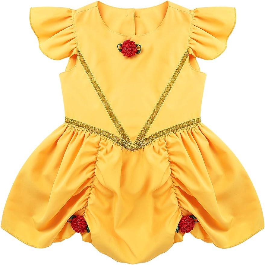 MSemis Disfraz Bella Durmiente para Bebés Niñas Vestido Princesa ...