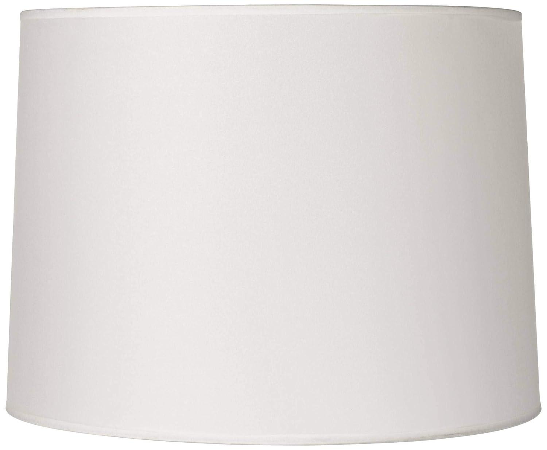 Hardback White Drum Lamp Shade 13x14x10 (Spider) - Brentwood